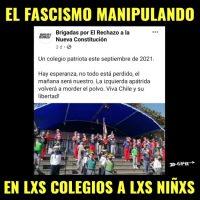 [Chile] Fora fascismo das salas de aula e sua manipulação.