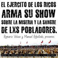 [Chile] O show do exército dos ricos, que eles mesmos paguem por isso e não o povo