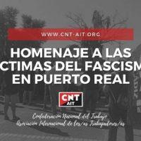 [Espanha] Cádiz: Concentração em homenagem às vítimas do fascismo em Puerto Real