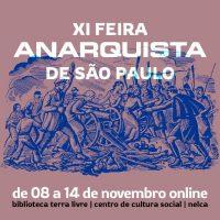 Vem aí a XI Feira Anarquista de São Paulo
