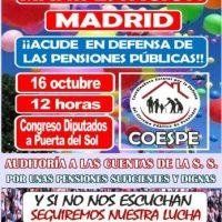 [Espanha] Contra a privatização do sistema público de previdência e pelos direitos sociais