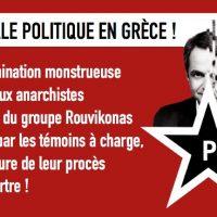 [Grécia] As testemunhas do julgamento denunciam a orquestração do estado contra os anarquistas!
