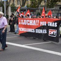 [Espanha] Crônica da manifestação de 16 de outubro, da Caixa de pensões o que nos sobram são ladrões