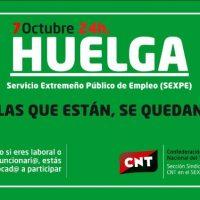 [Espanha] A CNT convoca greve no Serviço Público de Emprego da Extremadura em 7 de outubro, diante da recusa da Junta em negociar