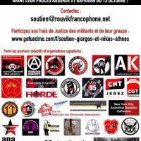 [Grécia] Apoio a Giorgos Kalaitzidis e Nikos Mataragkas do Grupo Anarquista Rouvikonas